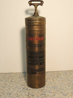 Antique Fire Gun No. 0 Brass Fire Extinguisher American-LaFrance, Empty