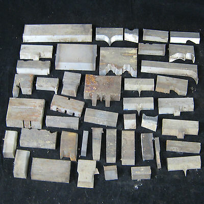 Lot of 43 Corrugated Jointer Planer Cutter Shaper Mold Molder Molding Knives Vtg