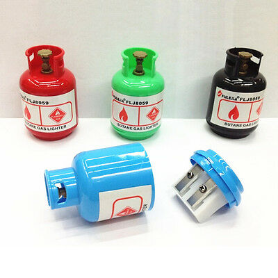 Cartoon Gas Tank Plastic Pencil Sharpener Machine For Kids Gift Stationery Nice