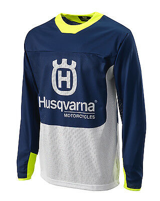 Genuine Husqvarna Husky Gotland MX Jersey/Shirt Blue Yellow Off Road