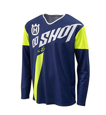 Genuine Husqvarna Husky Factory Shot Replica MX Jersey/Shirt Blue Off Road
