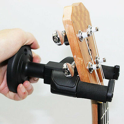 New Black Guitar Wall Mount Hanger Holder Bracket Stand For Acoustic Guitar Bass
