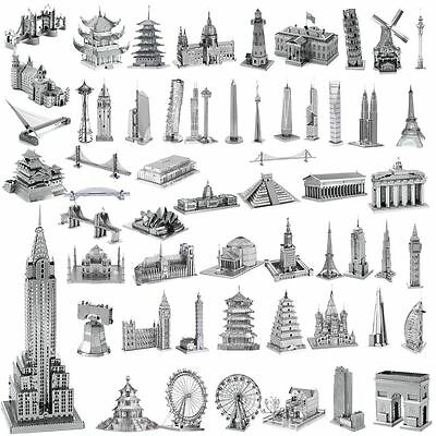 3D Metal Model Puzzle DIY Building Laser Cut Assembly Jigsaw Toy Gift Decoration