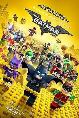 LEGO BATMAN MOVIE 2017 Original Ver B DS 2 Sided 27X40 Movie Poster Will Arnett