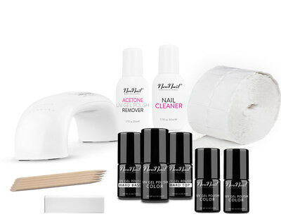STARTER SET Lampe 9W LED UV NAGELLACK 30.00 ml Maniküre Nailstudio ZUBEHöR