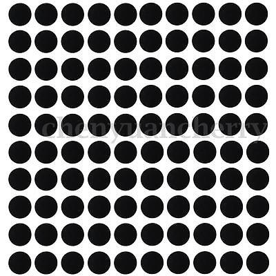100Pcs 25mm Round Silicone Black Slot Bases For Wargames Table Games Board Model