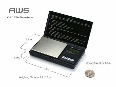 American Weigh Scales American Weigh Signature Series Silver AWS-1Kgm Digital Po