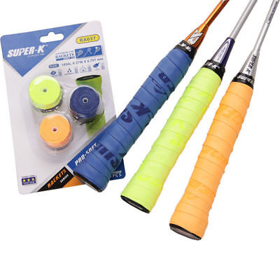1 x 3pcs Replacement Badminton Racket Squash Racquet Hand Grip Sweat Band Tape