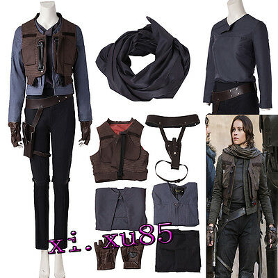 Newest Rogue One:A Star Wars Story Jyn Erso Cosplay Costume Full Suit Any Size