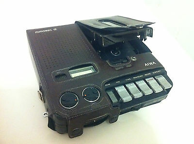 Aiwa TP-12 Mimorec 12 Portable Cassette Recorder Vintage Made in Japan very rare