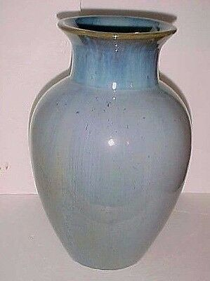 "Fulper  Art Pottery 12""  Vase # 576 Blue Flambe Glaze Circa 1916 -1922"
