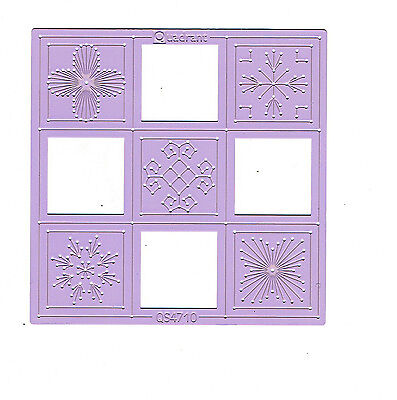 Pink Metal Embroidery Stencil - Quadrant QS4710 by Marianne Design
