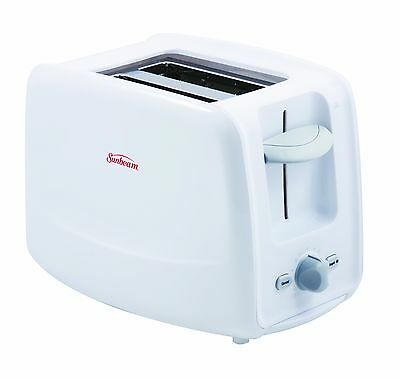 Sunbeam 2 Slice Toaster with Retractable Cord, White