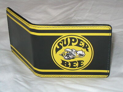 Leather style PU wallet Dodge Super Bee logo B Body Coronet bumblebee cool gift