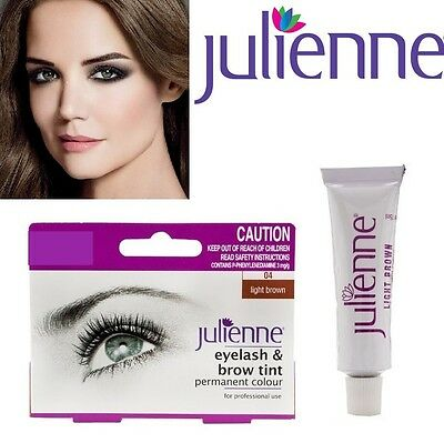 Julienne Professional 15ml Eyelash Eyebrow Dye Tint Ligh Brown Julienne Professi
