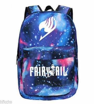 New Hot sell Fairy Tail Canvas Leisure Backpack Cosplay swagger bag School Bag