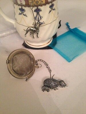 Family Hedgehog 2inch Tea Ball Mesh Infuser Stainless Steel Sphere Strainer A46