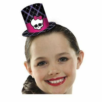 8pk Monster High Party Birthday Black Skull Style Mini Top Hats Fascinators