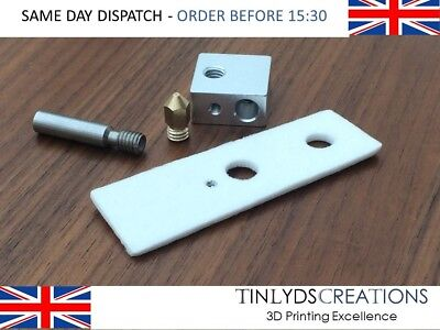MK8 EXTRUDER  0.4mm marked Nozzle+ptfe throat+ceramic+block ,CTC 3D printer part
