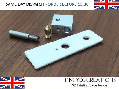 mk8 0.4mm marked Nozzle+ptfe throat+ceramic+heater block ,ctc 3D printer part