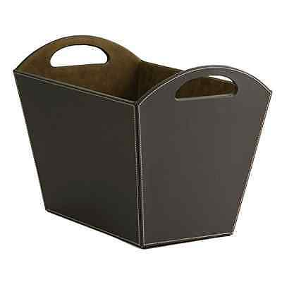 Osco Faux Leather Magazine Basket - Brown - SAME DAY DISPATCH