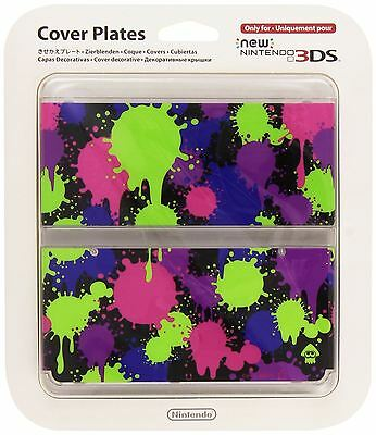 New Nintendo 3DS Splatoon Faceplate Cover Plate Case Sealed