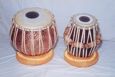 Handmade Tabla Drum With Copper Dugi  Professional Quality + Free Shipping
