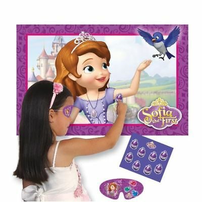 Disney's Sofia The First Princess Pin the Amulet Party Game for 8 Players
