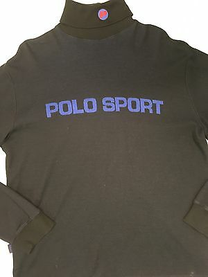 Vtg Polo Sport Knit Sweater Made In USA Men's L 1992 Snow Beach Cold Wave Ralph