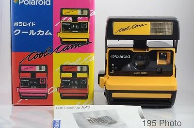 Polaroid 600 Coolcam Yellow Instant Film Camera w/Box ** Excellent +**  (#1125)
