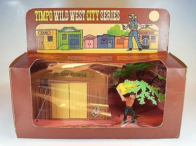 Timpo Toys 295 Western City Livery Stable - Stall mit Knecht OVP #1087
