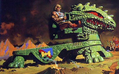 Masters Of The Universe | Motu | He-Man | Dragon Walker | Banner | Plane | Xxl