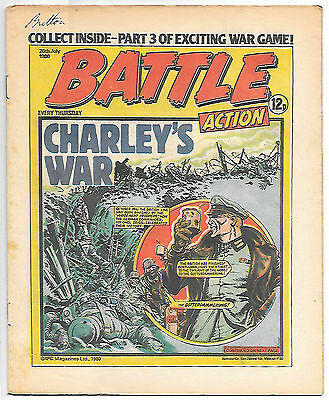 Battle Action 26 July 1980 (very high grade) Charley's War, Rat Pack, Johnny Red