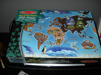 Brand New Puzzle 500 Pieces Melissa & Doug Map Of The World Sealed