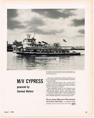 1963 Dalzell Towing Co. Tugboats 3-mast Tall Ship Vtg Print Ad
