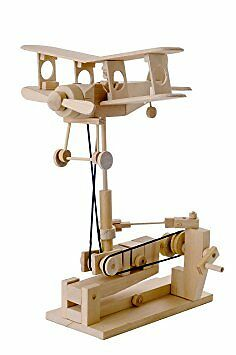 Timberkits Bi Plane Construction Moving Model Kit Wooden DIY Self Assembly