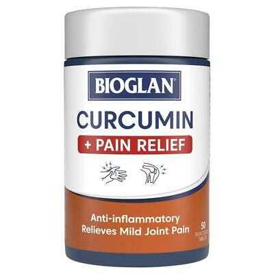 Bioglan Curcumin Plus Pain Relief 50 Tablets