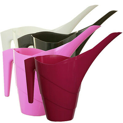 Whitefurze Stylish Long Spout Coloured Plastic 1.5L Indoor Watering Can
