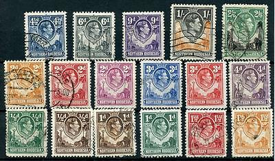 Northern Rhodesia 1938-52 short set to 2/6 SG25/41 FU