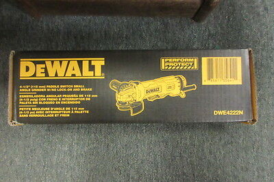 "Dewalt Dwe4222N  4-1/2"" Paddle Switch Small Angle Grinder W/nolock On And Brake"