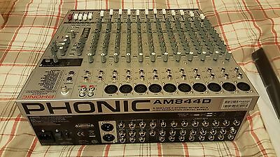 Phonic AM844D 8 Mic/Line 4 Stereo Mixer with High Resolution Digital Effect
