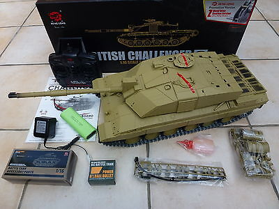 Heng Long 1/16 2.4GHz Challenger 2 BB RC Tank - Metal Gearboxes - Plastic Tracks