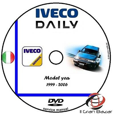 Manuale Officina Iveco Daily My 1999 - 2006 Workshop Manual Service Cd Dvd