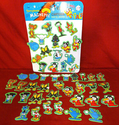 Mighty Mouse & Pals Magnet & Magnetic Display Lot by H.B.P. Inc. 1978 Terrytoons