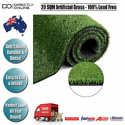 20 SQM Artificial Grass Lawn Synthetic Turf Outdoor Flooring Garden Gardening Ol