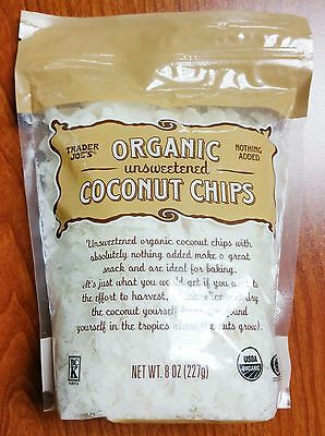 Trader Joe's Organic Unsweetened Coconut Chips 8oz