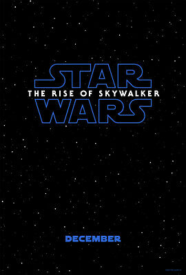 "STAR WARS THE RISE OF SKYWALKER 2019 Advance A DS 2 Sided 27X40"" US Movie Poster"
