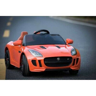 Jaguar F TYPE Licensed Exclusive Orange Kids Ride on Car with Remote Control