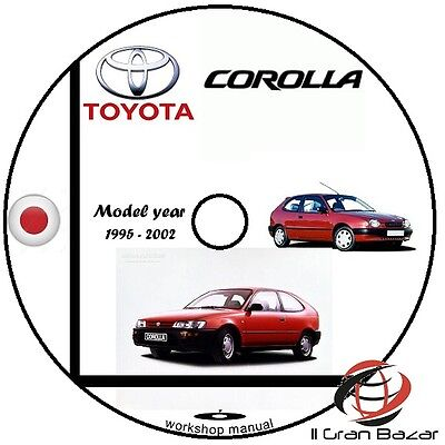 Manuale Officina Toyota Corolla My 1995 - 2002 Workshop Manual Service Cd Dvd
