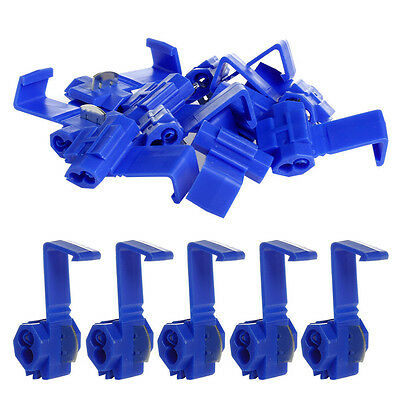 50xBlue Car Electrical Cable Wire Connector Fast Splice Lock Wire Terminal Crimp
